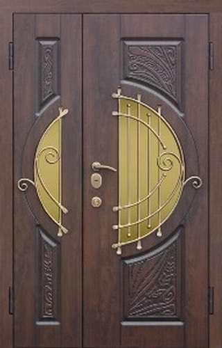 двойные входные двери со стеклопакетом на заказ