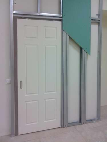 Схема механизма раздвижной двери